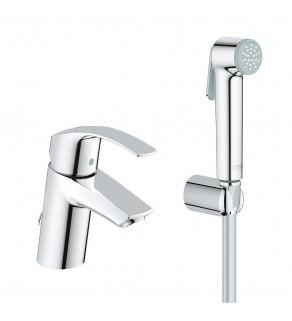Смеситель для умывальника с гигиеническим душем Grohe Eurosmart 23124002